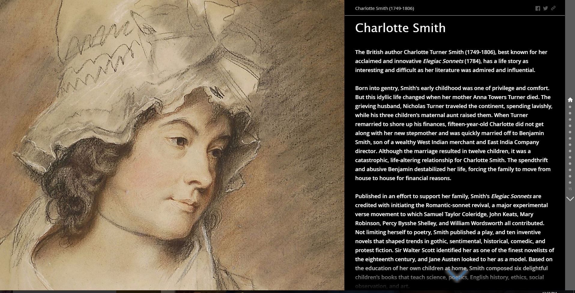 Charlotte Smith Story Map