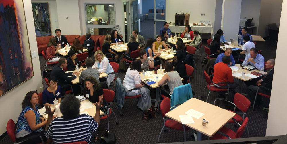 Photo of workshop happening in the EWFM CITL Commons
